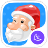 Merry Christmas  Santa &HD Wallpapers -APUS theme أيقونة