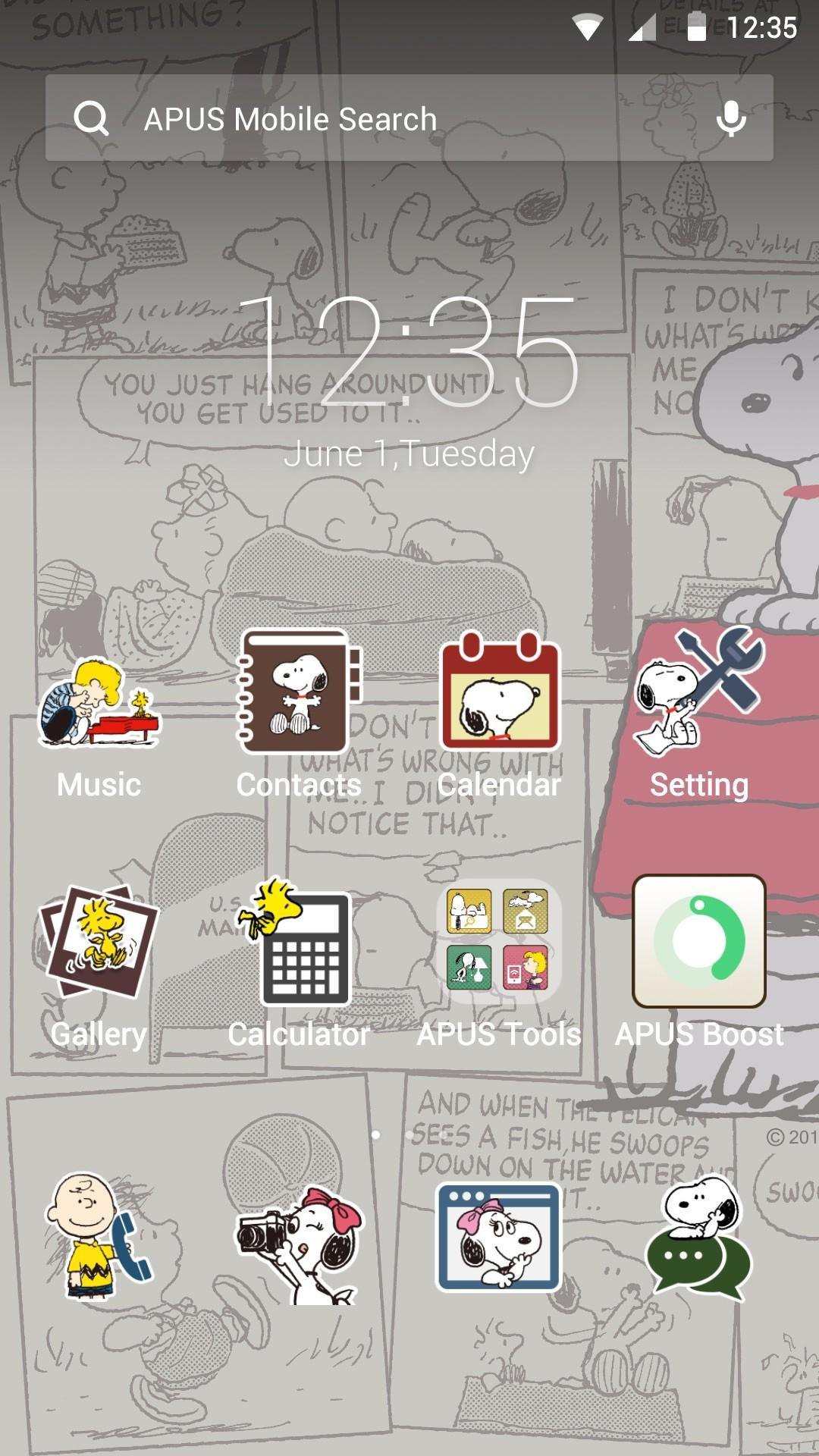 Snoopy theme for apus poster