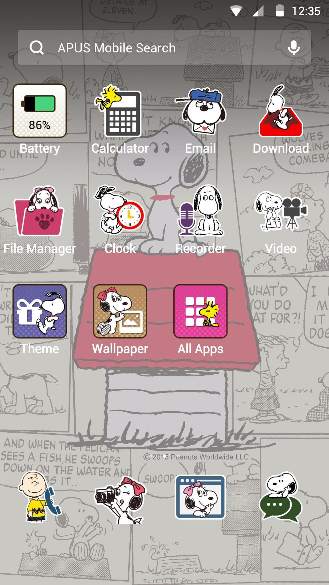 Snoopy theme for apus poster snoopy theme for apus screenshot 1