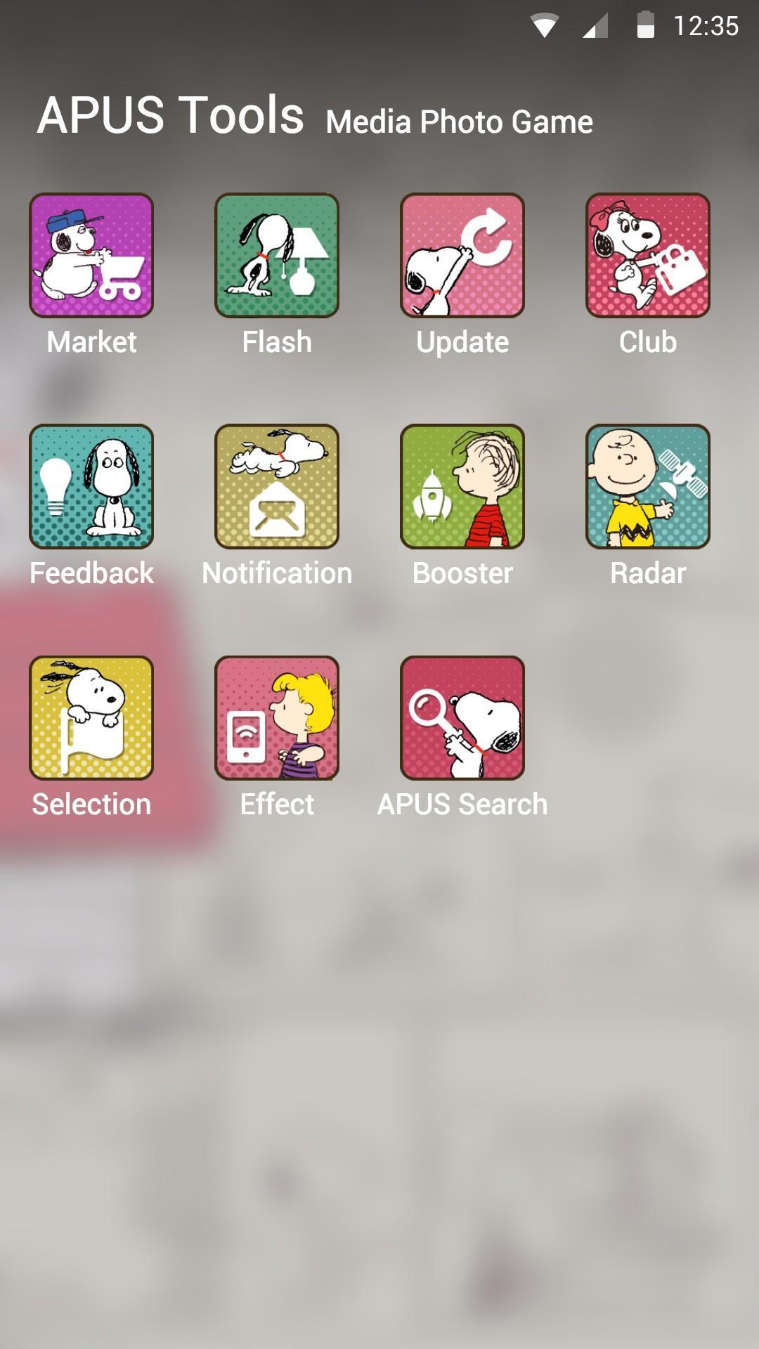 Snoopy theme for apus screenshot 2