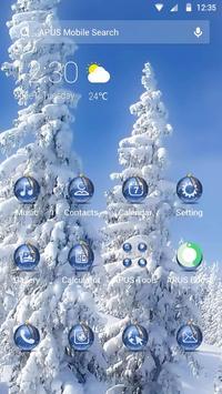 Snow-APUS Launcher theme poster