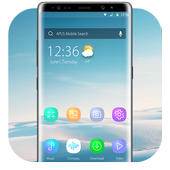 Blue Smooth Business  APUS  theme & HD wallpapers icon