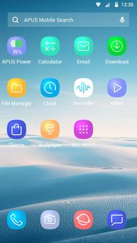 Blue Smooth Business  APUS  theme & HD wallpapers screenshot 3