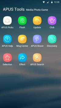 Blue Smooth Business  APUS  theme & HD wallpapers screenshot 4