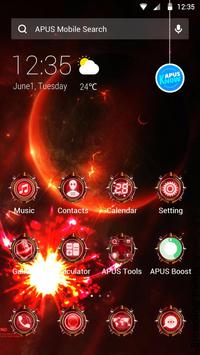 Cool Red Technology-APUS Launcher fashion theme poster