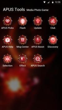 Cool Red Technology-APUS Launcher fashion theme screenshot 2
