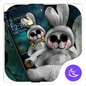 Scary trick doll Halloween theme👻 icon