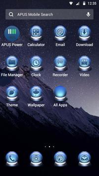QUIET STAR-APUS Launcher theme apk screenshot