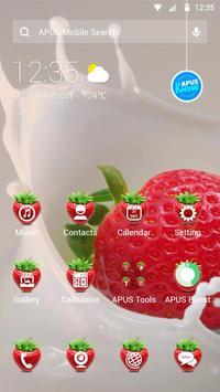 Strawberry-APUS Launcher theme poster