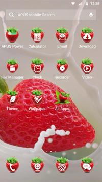Strawberry-APUS Launcher theme apk screenshot