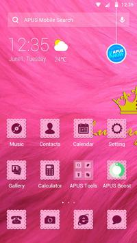 Pink-APUS Launcher theme poster