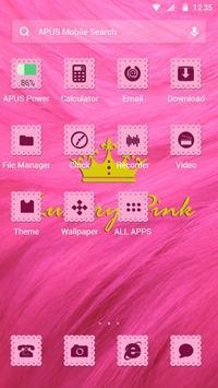 Pink-APUS Launcher theme apk screenshot