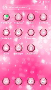 Pink Dream-APUS Launcher theme apk screenshot