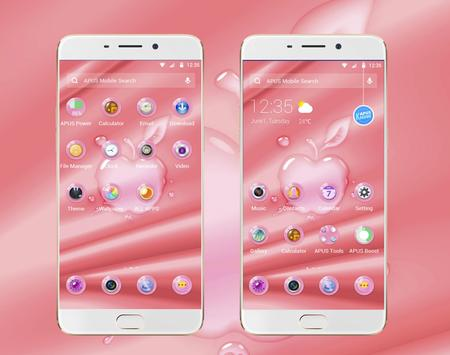 Pink Phone -- APUS Launcher Free Theme poster