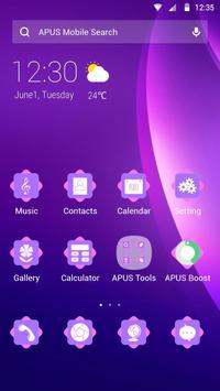 Purple-APUS Launcher theme poster