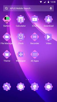 Purple-APUS Launcher theme apk screenshot