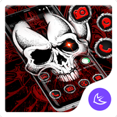Red Evil Skull APUS Launcher Theme icon