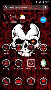 Red Evil Skull APUS Launcher Theme poster