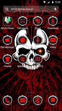 Red Evil Skull APUS Launcher Theme screenshot 1
