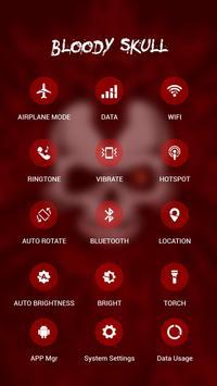 Red Evil Skull APUS Launcher Theme screenshot 2