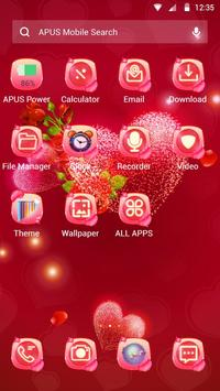 Red rose love-APUS launcher  free theme screenshot 4
