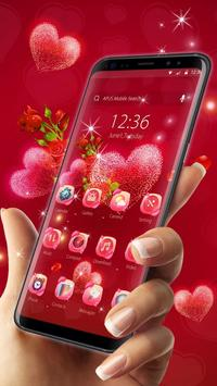 Red rose love-APUS launcher  free theme poster