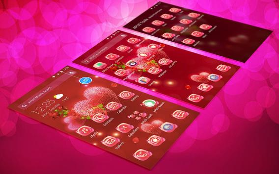 Red rose love-APUS launcher  free theme screenshot 2