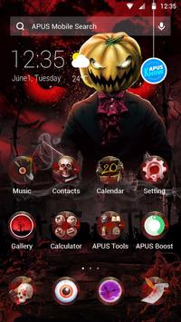Red Scary Pumpkin Halloween theme🎃 poster
