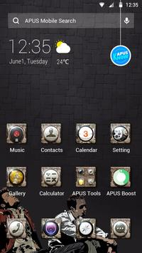 Cool Black Theme—APUS launcher free theme poster