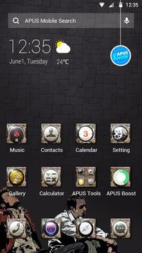 Cool Black Theme—APUS launcher free theme poster