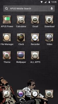Cool Black Theme—APUS launcher free theme apk screenshot