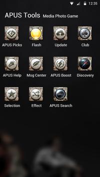 Cool Black Theme—APUS launcher free theme screenshot 2
