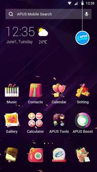 Purple kawaii Love—APUS launcher free theme poster