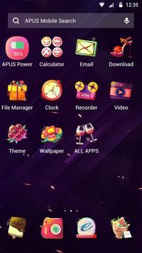 Purple kawaii Love—APUS launcher free theme apk screenshot