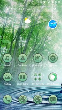 Forest Green Frees theme-APUS Launcher theme poster