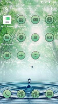 Forest Green Frees theme-APUS Launcher theme apk screenshot