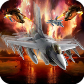 Aircraft battle icon