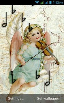Violin  Angel Live Locksreen apk screenshot