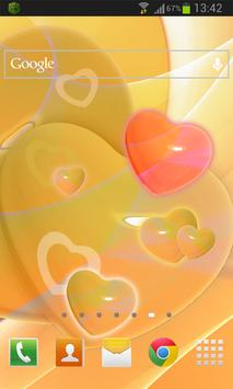 Glowing Hearts LWP poster