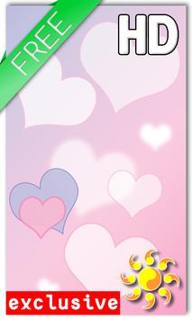 Hearts Love Live Wallpaper poster