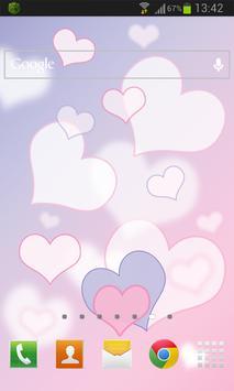 Hearts Love Live Wallpaper apk screenshot