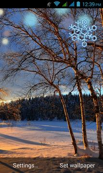 Sunset Livewallpaper HD Winter poster