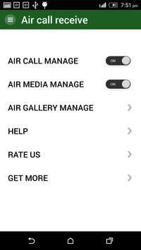 Call Receiver on Air apk screenshot