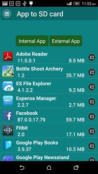 App to SD card apk screenshot