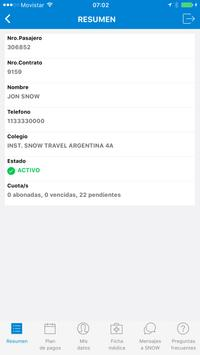 Snow Travel App Gestion screenshot 2