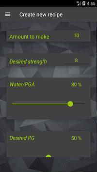 Vape: Calculadora E-Liquid e Coil imagem de tela 1