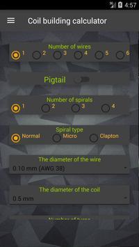 Vape: Calculadora E-Liquid e Coil imagem de tela 4