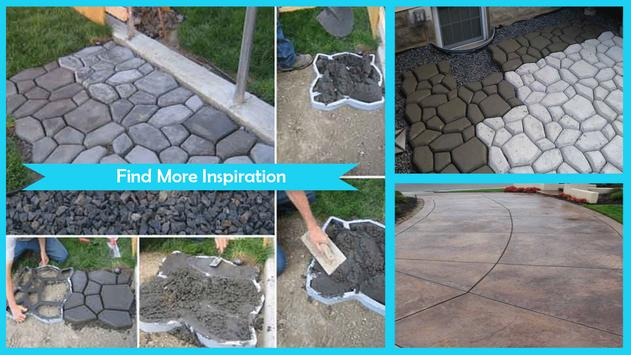 Amazing DIY Concrete Walkway poster