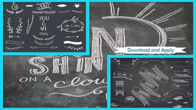 Easy Chalkboard Ribbon Banner apk screenshot