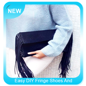 Easy DIY Fringe Shoes And Clutch icon